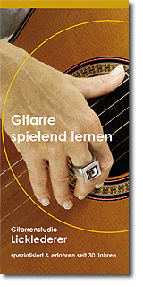 Faltblatt Gitarrenstudio Licklederer